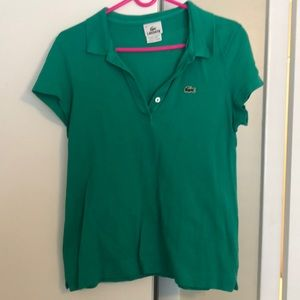 Green Lacoste Top